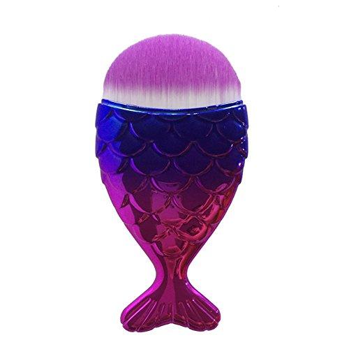 Meerjungfrau Makeup Brushes - 5pcs Make Up Pinsel Set Beauty Brush Set Kosmetik Pinselsets Highdas
