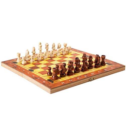 Yxxc Juego de Madera Internacional Juego de ajedrez de Madera Juguetes Divertidos Regalo y Juego de ajedrez