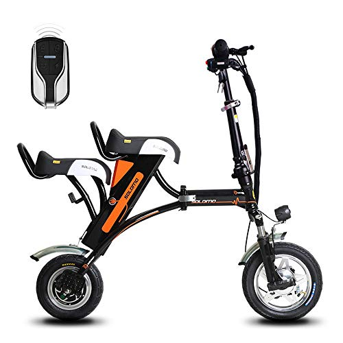 SSCJ Bicicletta elettrica Pieghevole Mini Adulto Elettrico Scooter Portatile City Bicycle Remote Control antifurto USB Ricarica Due posti
