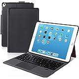 [iPad 10.2/10.5通用]Ewin® 新型 iPad キーボード ケース タッチパッド付き 一体式Bluetoothキーボード 超薄型 ipad 第7世代 ipad 第8世代 10.2 ipad pro 10.5 ipad air3 10.5対応 ワイヤレスキーボード pencil収納 日本語説明書付き (ブラック)