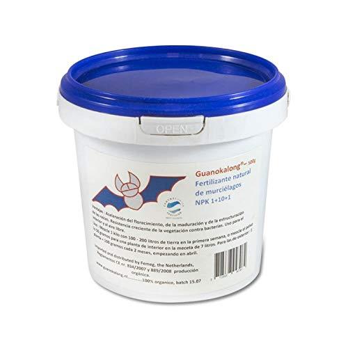 Guanokalong Guano de Chauve-Souris en Poudre 1kg Engrais, Blanc, Bleu, Rouge