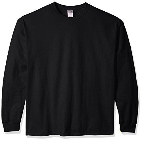 Gildan Herren Ultra Cotton Long Sleeve T-Shirt, Style G2400 Hemd, schwarz, X-Groß