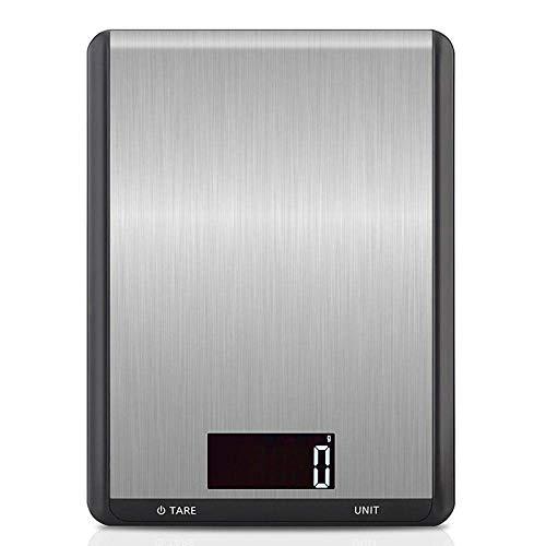 Qinmo Escala electrónica, escala de pesaje Escala de bolsillo 10kg 1g Escala de cocina digital grande 10000G Cocina de acero inoxidable Cocina Comida Dieta Dieta Balance de peso Balanzas electrónicas