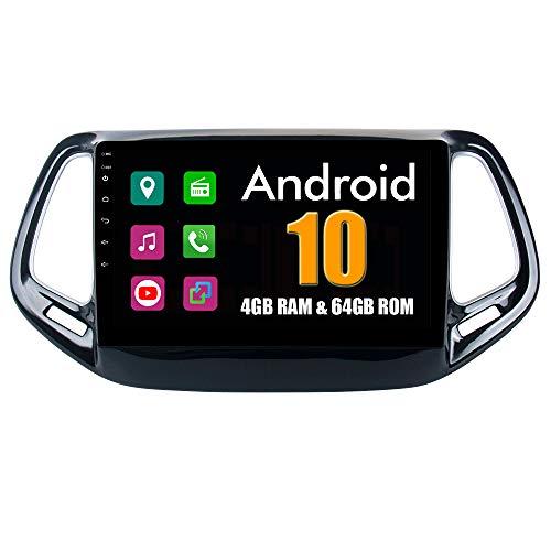 RoverOne 9 Pouces Système Android Octa Core pour Jeep Compass 2017 2018 de Voiture Lecteur multimédia avec Radio Navigation GPS Autoradio stéréo Bluetooth Mirror Link écran Tactile