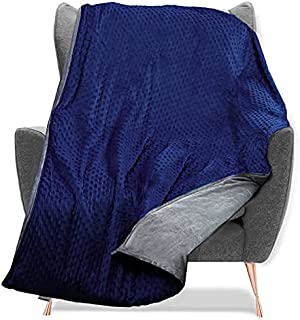 Quility Weighted Blanket with Soft Cover - 25 lbs Full/Queen Size Heavy Blanket for Adults - Heating & Cooling, Machine Wa...