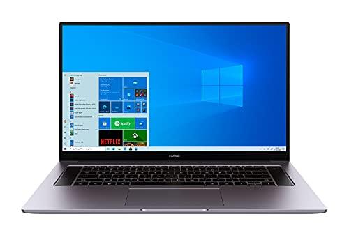 HUAWEI MateBook D16 Laptop, 16,1 Zoll FullView 1080p FullHD Display, 512GB PCIe SSD+16GB RAM, AMD Ryzen 5 4600H, Fingerabdrucksensor, versteckbare Kamera, Windows 10 Home-Grau
