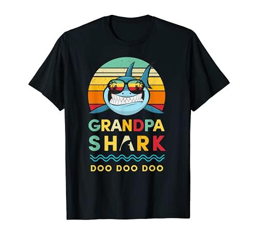 Grandpa Shark T-Shirt Grandad Gif