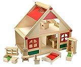 Beluga Spielwaren 70131 - Villa Bambini Puppenhaus mit Möbeln und Puppen