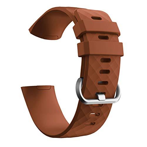 RALC Fabelhaftes Ersatzband für Fitbit Charge 3 Silikonband Diamant-Armband H4