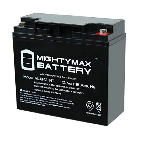 Mighty Max Battery 12V 18AH SLA Internal Thread Replacement for SW-12200 SLA-12V20 Brand Product