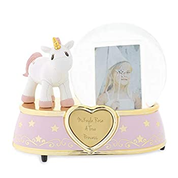 Things Remembered Personalized Unicorn Photo Musical Snow Globe with Engraving Included