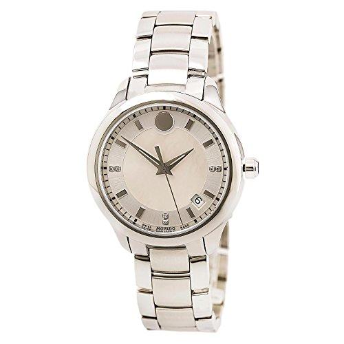 Movado Bellina blanco madre de perla Dial Damas Reloj 0606978