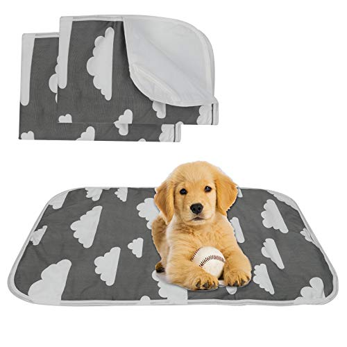 2 pezzi Tappetini Assorbenti per Cani, di Tappetino Per Cuccioli Lavabile e Riutilizzabile, Adatto per Cani di Piccola Taglia, Cuccioli e Gatti 50x70cm