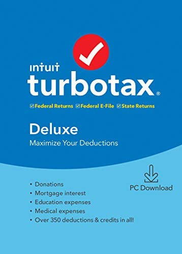 Old Version TurboTax Deluxe State 2019 Tax Software PC Download product image