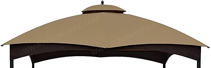 ALISUN Replacement Canopy Top for Lowe's 10' x 12' Gazebo #TPGAZ17-002C (Golden Brown Canopy Top Only)