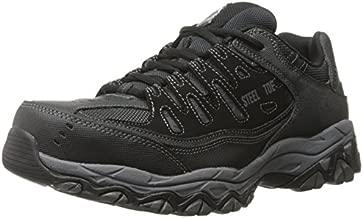 Skechers For Casual Steel Toe Work Sneaker, Black/Charcoal, 9 M US