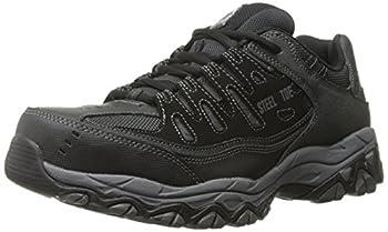 Skechers For Casual Steel Toe Work Sneaker Black/Charcoal 10 M US