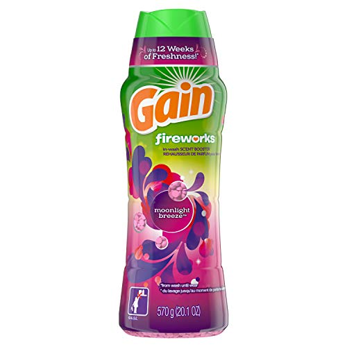 GAIN Gain Fireworks in-Wash Scent Booster Beads, Moonlight Breeze, 20.1 Ounce