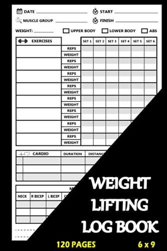 Weight Lifting Log Book: Workout Tracker for Men and Women, Exercise Notebook and Fitness Journal for Personal Training
