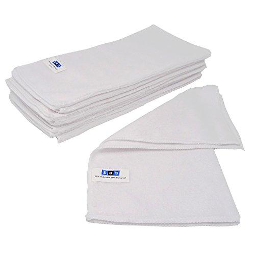SBS Mikrofasertücher | 30 x 30 cm | 10 Stück | weiß Microfasertuch Mikrofaser Tuch Microfasertücher
