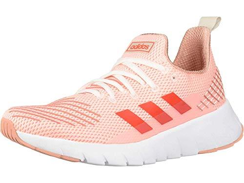 adidas Women's ASWEEGO, Clear Orange/Solar red/raw White, 11 M US