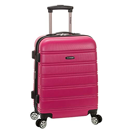 Rockland Melbourne Hardside Expandable Spinner Wheel Luggage, Magenta