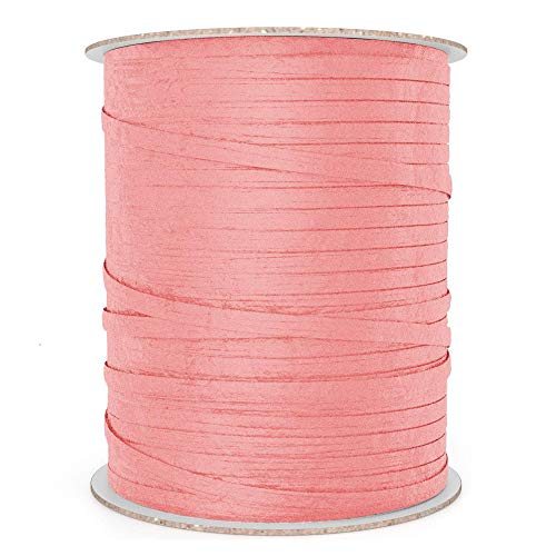 Natural Paper Raffia Ribbon (100 yd, Rose Pink)