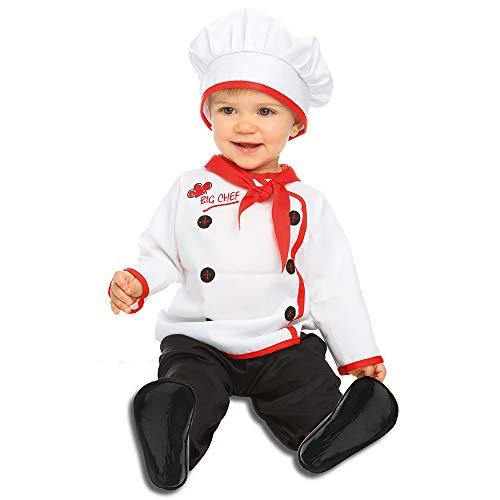 Dress Up America Baby Chef Costume Disfraces , Multicolor ( Multi )  ,  One Size Unisex Adulto