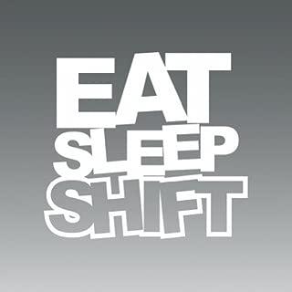 Eat Sleep Shift JDM Drift #1 Logo Sticker Vinyl Decals- Die Cut Decal Bumper Sticker For Windows, Cars, Trucks, Laptops, Etc.