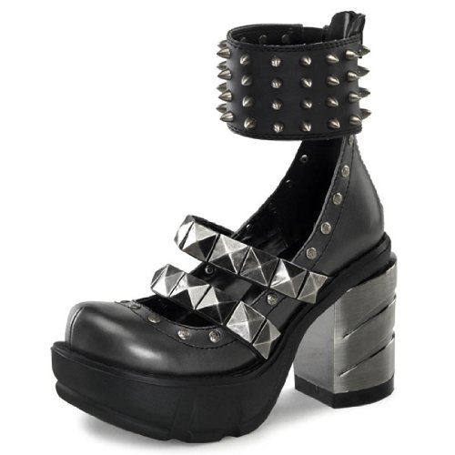 Pleaser SINISTER-62 Womens Shoes, D.Gray-Black PU, Size 11