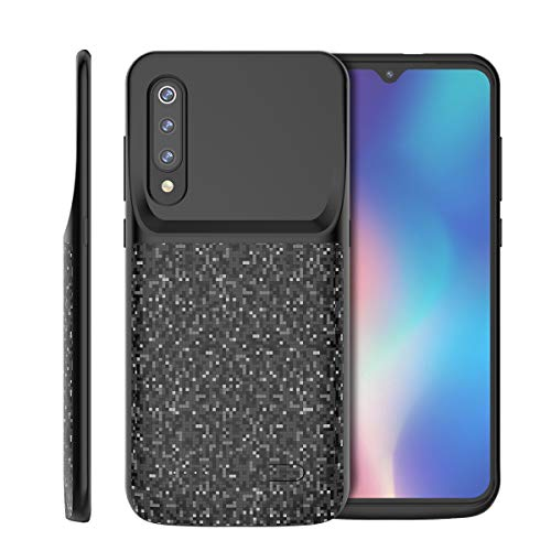 Xiaomi Mi 9 SE Funda Batería, 4700mAh Externa Funda Cargador Portatil Power Bank Backup Ultra Fina Recargable Batería Externa Carcasa Funda Protectora Extra Pack Negro