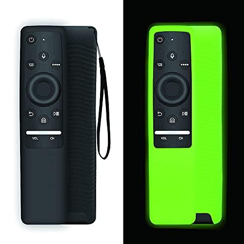AIYAAIYA 2 Pz Upgrade Custodia in silicone per telecomando per Samsung Smart TV serie BN59, antigoccia/antiscivolo/graffio/polvere/acqua per Copertura protettiva del telecomando (Nero + Verde)