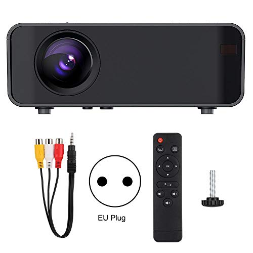 Projector, Portable Home Projector, Support HD 1080P, 30000 Hours Life, Home Theater with Remote Control, HDMI VGA SD AV USB, Home Theater Projector, Black(EU)