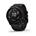 Garmin Fenix 6X Pro, Premium Multisport GPS Watch, features Mapping, Music, Grade-Adjusted Pace Guidance and Pulse Ox Sensors, Black (Renewed)