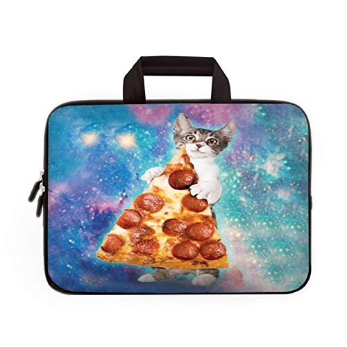 11' 11.6' 12' 12.1' 12.5' inch Laptop Carrying Bag Chromebook Case Notebook Ultrabook Bag Tablet Cover Neoprene Fit Samsung Google Acer HP DELL Lenovo Asus (11 11.6 12.1 12.2 inch, Cat & Pizza)