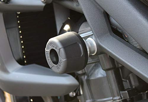 GSG-Moto Sturzpads Triumph Street Triple 675 / R 07-12 Adapter Alu-natur NEU
