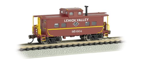 Bachmann Industries #95004 Northeast Steel Caboose Lehigh Valley, Tuscan Red, N Scale