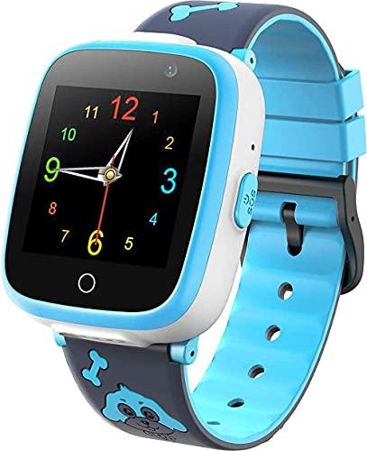 Smartwatch Music Game Player Smart Watch con grabadora de Video por Voz 2 Camara 6 Game Alarm Clock SOS 1.54 HD Pantalla táctil para 3-14 niños Regalo