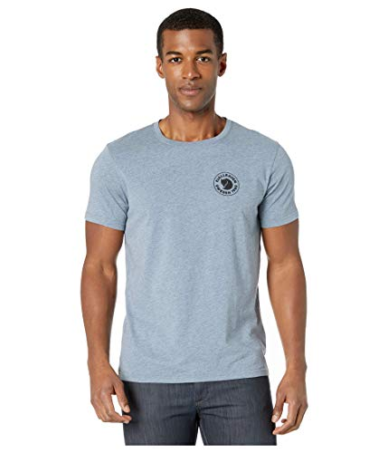 FJALLRAVEN 1960 Logo T-Shirt M - Herren L Onkel-blau-Melange