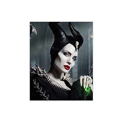 DNJKSA Angelina Jolie Maleficent Poster Classic Movie Figure Canvas Painting Modern Wall Art Pictures for Living Room Home Decor-50x70cm No Frame