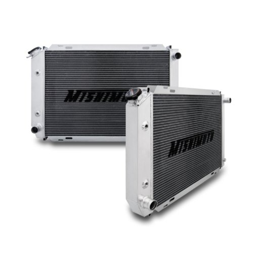 Mimoto MMRAD-MUS-79 Aluminium-Kühler, Doppel-Durchlauf, für Mustang, geeignet für Rennen