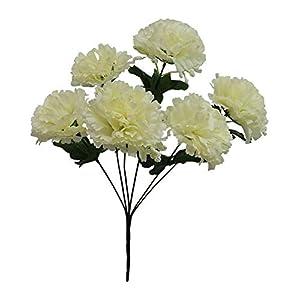 6 Carnations IVORY CREAM Silk Wedding Bridal Bouquet Centerpieces Flowers Decor