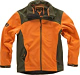 Work Team Cazadora workshell alta visibilidad, combinada, con 2 bolsillos laterales. HOMBRE Naranja AV/Verde Caza M