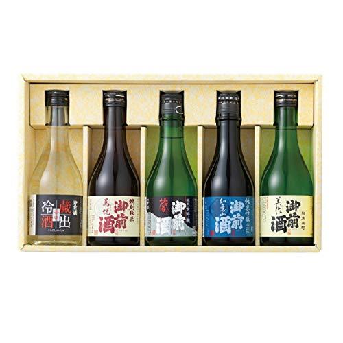 御前酒 味くらべギフト(300ml×5本)【代表銘柄 飲みくらべ】