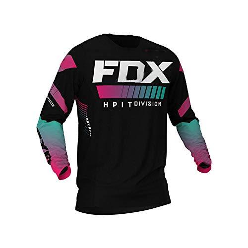 LGGJJYHMY equipo de bicicleta de montaña camiseta de descenso MTB Offroad DH fxr camiseta de locomotora de bicicleta cross country mountain hpit fox jersey-S