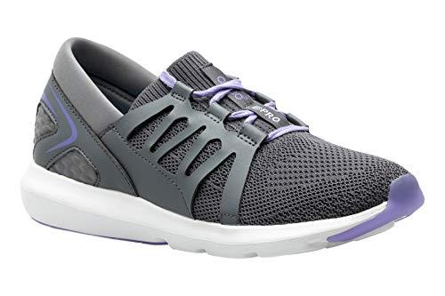 Ellen - Women's Wide Athletic Shoes in Dark Grey-Purple Size: 6.5