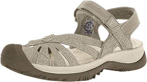 KEEN Women's Rose Sandal, Brindle/Shitake, 8 M US
