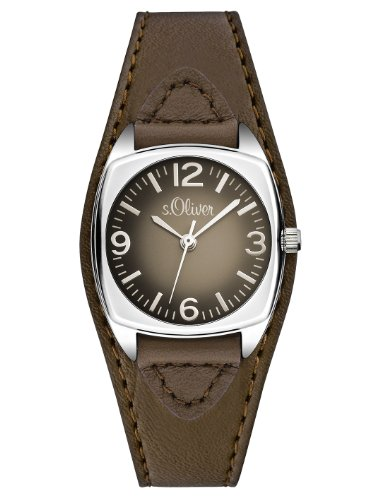 S.Oliver Damenuhr Analog Quarz mit Lederarmband – SO-2791-LQ