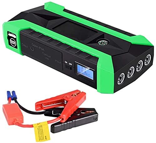 JYZT Arrancador De Coches De 20000 MAh con 4 USB, Booster De Batería De Arranque De Emergencia Exterior para Automóviles para Camiones De Moto, Cargador Energía Móvil con Linterna LED Y LCD