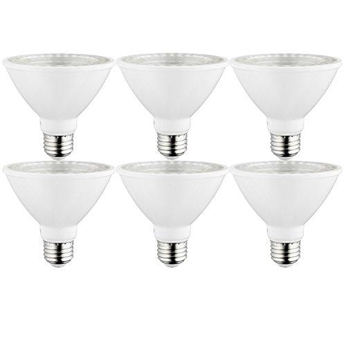 Sunlite 40979-SU LED PAR30 Short Neck Light Bulb, Dimmable, Energy Star 10 Watt, (75W Equivalent), Medium Screw (E26) Base, 6 Pack, 27K - Warm White, 6